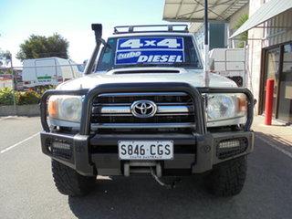 2008 Toyota Landcruiser VDJ76R GXL Silver 5 Speed Manual Wagon.