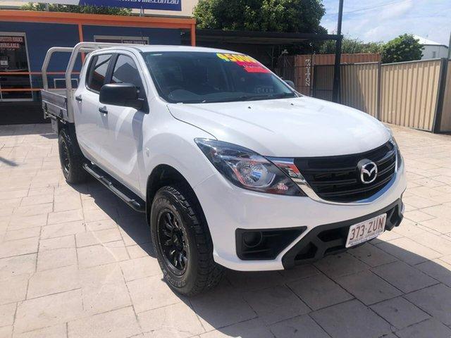 Used Mazda BT-50 UR0YG1 XT Mundingburra, 2019 Mazda BT-50 UR0YG1 XT White 6 Speed Manual Cab Chassis