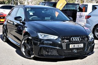 2016 Audi RS 3 8V MY16 Sportback S Tronic Quattro Black 7 Speed Sports Automatic Dual Clutch.