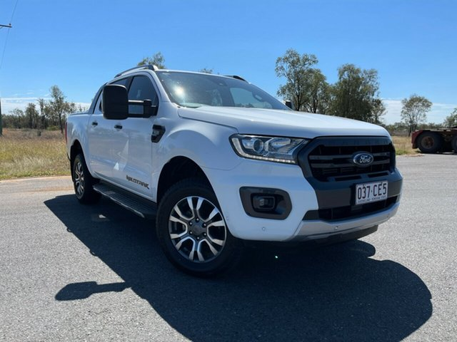 Used Ford Ranger PX MkIII 2019.00MY Wildtrak Emerald, 2018 Ford Ranger PX MkIII 2019.00MY Wildtrak Frozen White 6 Speed Sports Automatic Utility