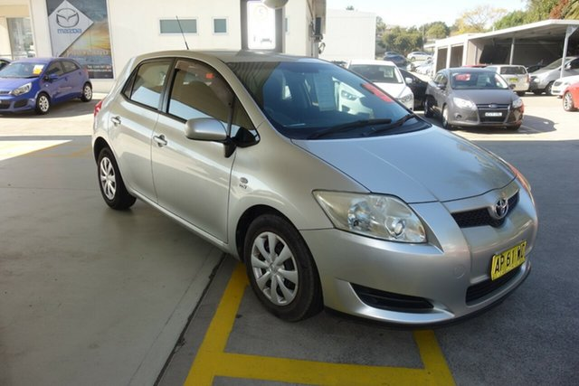 Used Toyota Corolla ZRE152R Ascent East Maitland, 2007 Toyota Corolla ZRE152R Ascent Silver 4 Speed Automatic Hatchback