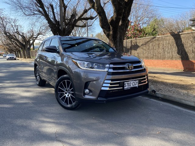 Pre-Owned Toyota Kluger GSU50R Grande 2WD Hawthorn, 2019 Toyota Kluger GSU50R Grande 2WD Predawn Grey 8 Speed Sports Automatic Wagon