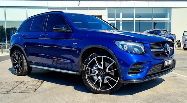 Used Mercedes-Benz GLC-Class X253 808MY GLC43 AMG 9G-Tronic 4MATIC Liverpool, 2018 Mercedes-Benz GLC-Class X253 808MY GLC43 AMG 9G-Tronic 4MATIC Blue 9 Speed Sports Automatic