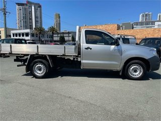 2011 Toyota Hilux TGN16R MY11 Upgrade Workmate Silver 5 Speed Manual Cab Chassis.