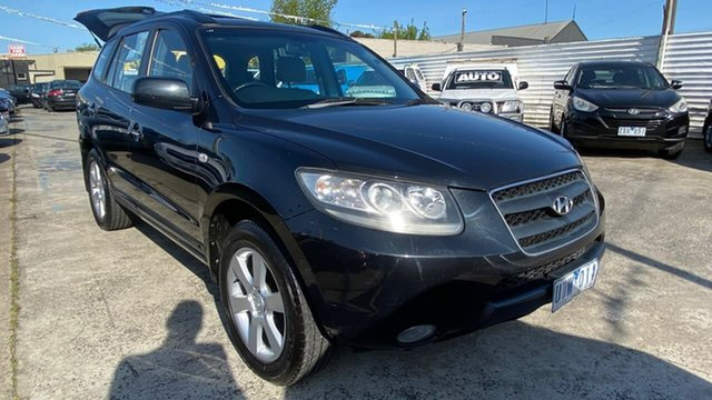 Used Hyundai Santa Fe CM MY07 Elite Maidstone, 2007 Hyundai Santa Fe CM MY07 Elite Black 5 Speed Sports Automatic Wagon
