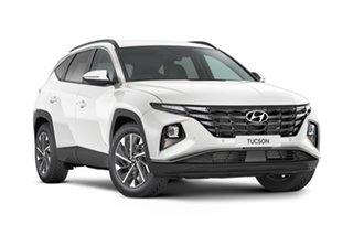 2021 Hyundai Tucson NX4.V1 MY22 Elite AWD White Cream 8 Speed Automatic Wagon