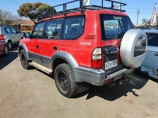 1997 Toyota Landcruiser Prado VZJ95R GXL Red 5 Speed Manual Wagon.