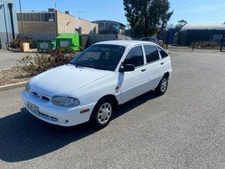 2000 Ford Festiva WF GLXi White 4 Speed Automatic Hatchback.