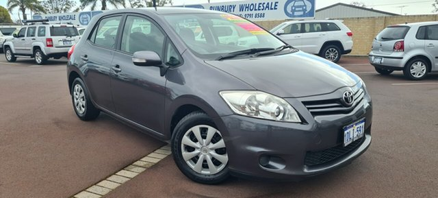 Used Toyota Corolla ZRE152R MY10 Ascent East Bunbury, 2010 Toyota Corolla ZRE152R MY10 Ascent Grey 6 Speed Manual Hatchback