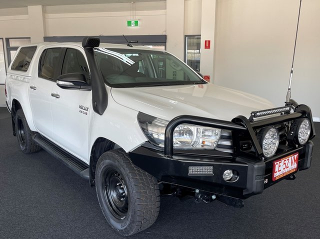 Used Toyota Hilux GUN126R SR Double Cab Winnellie, 2016 Toyota Hilux GUN126R SR Double Cab White 6 Speed Sports Automatic Cab Chassis