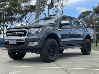 2016 Ford Ranger PX MkII XLT Double Cab Metropolitan Grey 6 Speed Sports Automatic Utility