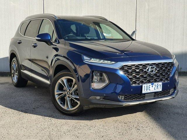 Used Hyundai Santa Fe TM MY19 Highlander Oakleigh, 2018 Hyundai Santa Fe TM MY19 Highlander Blue 8 Speed Sports Automatic Wagon