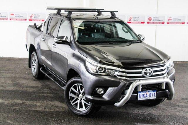 Pre-Owned Toyota Hilux GUN126R SR5 (4x4) Rockingham, 2015 Toyota Hilux GUN126R SR5 (4x4) Graphite 6 Speed Automatic Dual Cab Utility