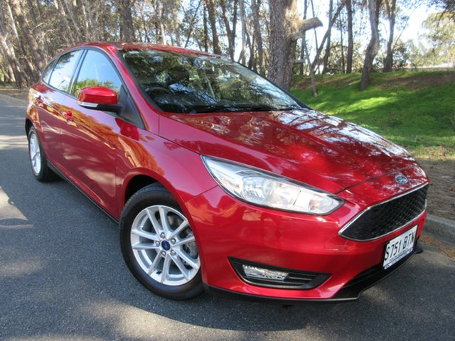 Used Ford Focus LZ Trend Reynella, 2017 Ford Focus LZ Trend Red 6 Speed Automatic Hatchback