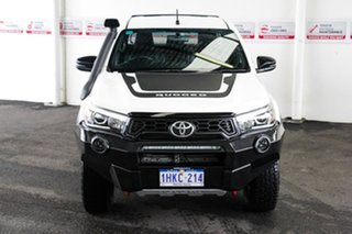 2018 Toyota Hilux GUN126R MY19 Rugged X (4x4) Glacier White 6 Speed Automatic Double Cab Pick Up.
