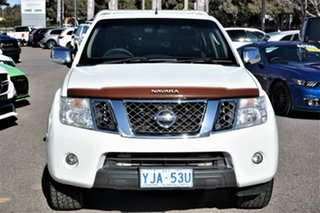 2012 Nissan Navara D40 S5 MY12 ST-X White 7 Speed Sports Automatic Utility.