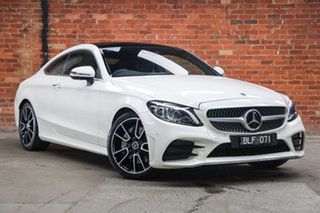 2020 Mercedes-Benz C-Class C205 801MY C300 9G-Tronic Diamond White 9 Speed Sports Automatic Coupe.