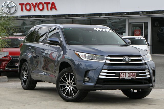 Used Toyota Kluger GSU50R Grande 2WD North Lakes, 2017 Toyota Kluger GSU50R Grande 2WD Cosmos Blue 8 Speed Sports Automatic Wagon