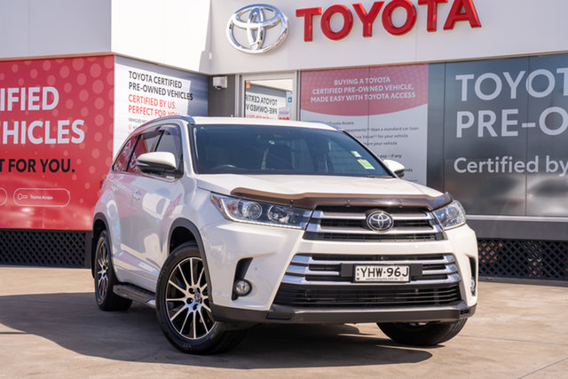 Pre-Owned Toyota Kluger GSU55R Grande AWD Guildford, 2018 Toyota Kluger GSU55R Grande AWD Crystal Pearl 8 Speed Automatic Wagon