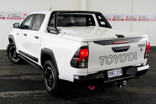 2018 Toyota Hilux GUN126R MY19 Rugged X (4x4) Glacier White 6 Speed Automatic Double Cab Pick Up