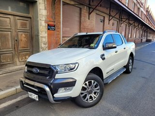 2015 Ford Ranger PX MkII Wildtrak Double Cab Cool White 6 Speed Sports Automatic Utility.