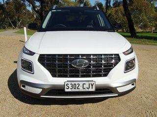 2021 Hyundai Venue QX.V3 MY21 Elite White 6 Speed Automatic Wagon.