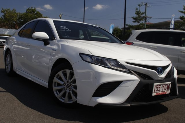 Used Toyota Camry AXVH71R Ascent Sport Mount Gravatt, 2018 Toyota Camry AXVH71R Ascent Sport White 6 Speed Constant Variable Sedan Hybrid