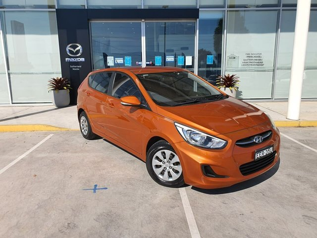 Used Hyundai Accent RB2 MY15 Active Kirrawee, 2015 Hyundai Accent RB2 MY15 Active Ge 4 Speed Sports Automatic Hatchback