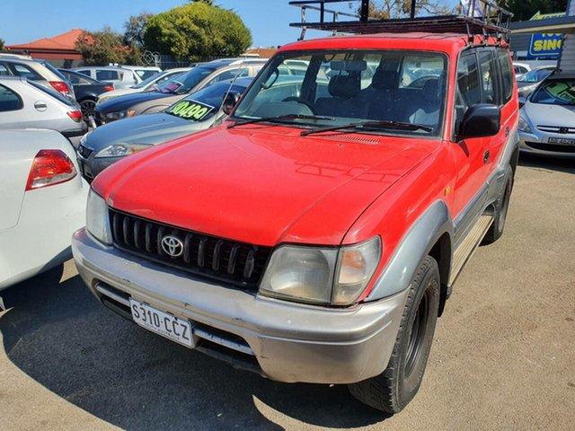 Used Toyota Landcruiser Prado VZJ95R GXL Morphett Vale, 1997 Toyota Landcruiser Prado VZJ95R GXL Red 5 Speed Manual Wagon