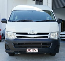 2010 Toyota HiAce KDH223R MY11 Commuter High Roof Super LWB White 4 Speed Automatic Bus.