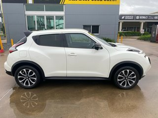 2015 Nissan Juke F15 Series 2 Ti-S X-tronic AWD White/130716 1 Speed Constant Variable Hatchback.