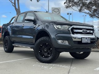 2016 Ford Ranger PX MkII XLT Double Cab Metropolitan Grey 6 Speed Sports Automatic Utility.