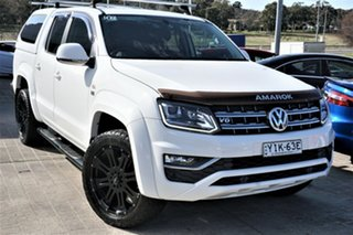 2018 Volkswagen Amarok 2H MY18 TDI550 4MOTION Perm Highline White 8 Speed Automatic Utility.