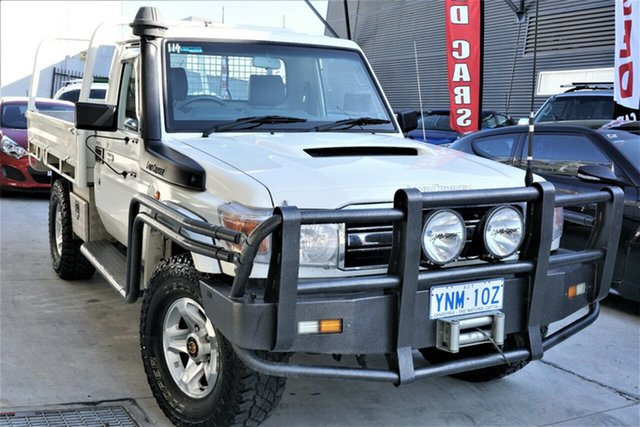 Used Toyota Landcruiser VDJ79R MY10 GXL Phillip, 2010 Toyota Landcruiser VDJ79R MY10 GXL White 5 Speed Manual Cab Chassis