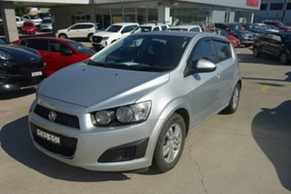 2014 Holden Barina TM MY14 CD Silver, Chrome 6 Speed Automatic Hatchback.