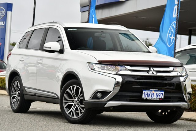 Used Mitsubishi Outlander ZK MY16 LS 2WD Melville, 2016 Mitsubishi Outlander ZK MY16 LS 2WD White 6 Speed Constant Variable Wagon