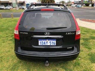 2009 Hyundai i30 FD MY09 SLX cw Wagon Black 4 Speed Automatic Wagon