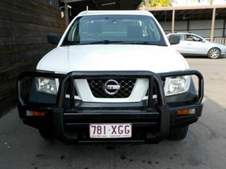 2010 Nissan Navara D40 RX White 6 Speed Manual Cab Chassis
