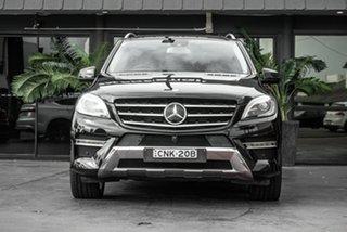 2013 Mercedes-Benz M-Class W166 ML350 BlueTEC 7G-Tronic + Black 7 Speed Sports Automatic Wagon.