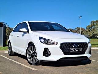 2018 Hyundai i30 PD MY18 SR D-CT White 7 Speed Sports Automatic Dual Clutch Hatchback.