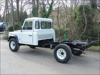 2000 Land Rover Defender 130 Red 5 Speed Manual Cab Chassis.