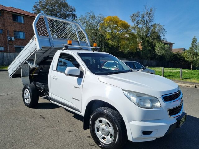 Used Holden Colorado RG MY14 LX (4x2) Bankstown, 2013 Holden Colorado RG MY14 LX (4x2) White 6 Speed Automatic Cab Chassis