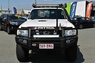 2013 Nissan Patrol GU Series 9 ST (4x4) White 5 Speed Manual Wagon.