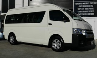 2015 Toyota HiAce KDH223R Commuter High Roof Super LWB White 4 Speed Automatic Bus.