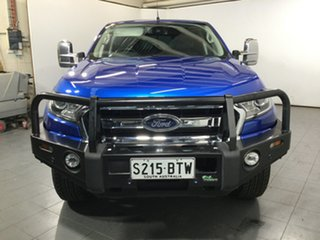 2017 Ford Ranger PX MkII XLT Double Cab 4x2 Hi-Rider Blue 6 Speed Sports Automatic Utility