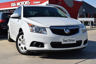 2012 Holden Cruze JH Series II MY12 CD White 6 Speed Sports Automatic Hatchback.