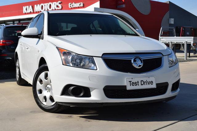 Used Holden Cruze JH Series II MY12 CD Echuca, 2012 Holden Cruze JH Series II MY12 CD White 6 Speed Sports Automatic Hatchback