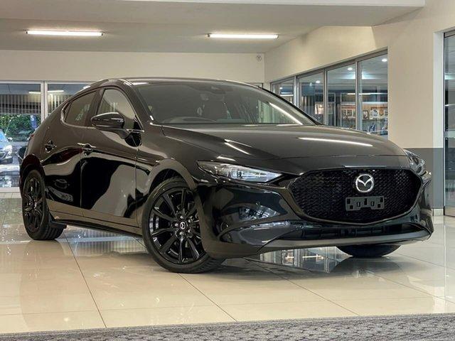New Mazda 3 BP2HLA G25 SKYACTIV-Drive Astina Waitara, 2021 Mazda 3 BP2HLA G25 SKYACTIV-Drive Astina Black 6 Speed Sports Automatic Hatchback