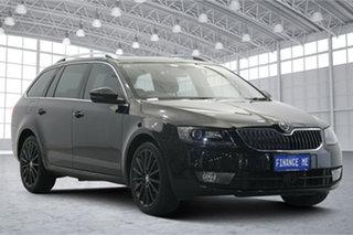 2014 Skoda Octavia NE MY15 Elegance DSG 132TSI Black 7 Speed Sports Automatic Dual Clutch Wagon.