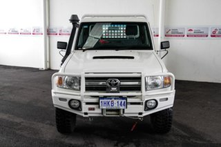 2016 Toyota Landcruiser VDJ79R MY12 Update GXL (4x4) French Vanilla 5 Speed Manual Cab Chassis.